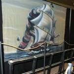 pirate murale bateau