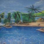 thematique_tropicale_murale-beach-chute