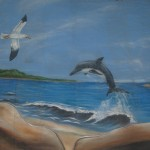 thematique_tropicale_murale-beach-dauphin