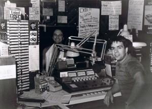 Dans les studios de CKOI avec Claude Dubois